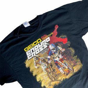 2015 GEICO Motorcycle T-Shirt Enduro Cross Black